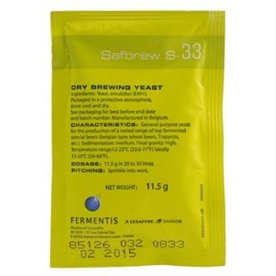 Levure fermentis - SafAle S-33 - 11,5 g
